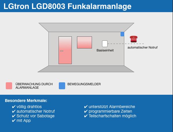 LGtron LGD8003 Funkalarmanlage