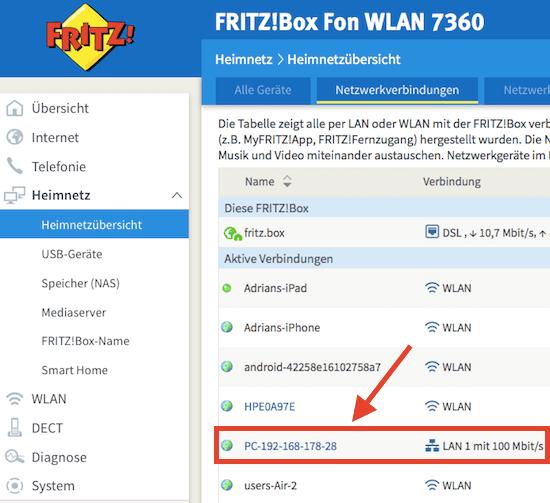Lupus XT2 in Fritzbox finden
