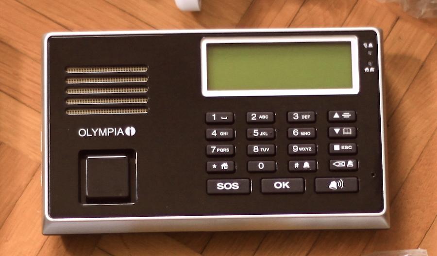 Alarmzentrale einer Haus-Alarmanlage